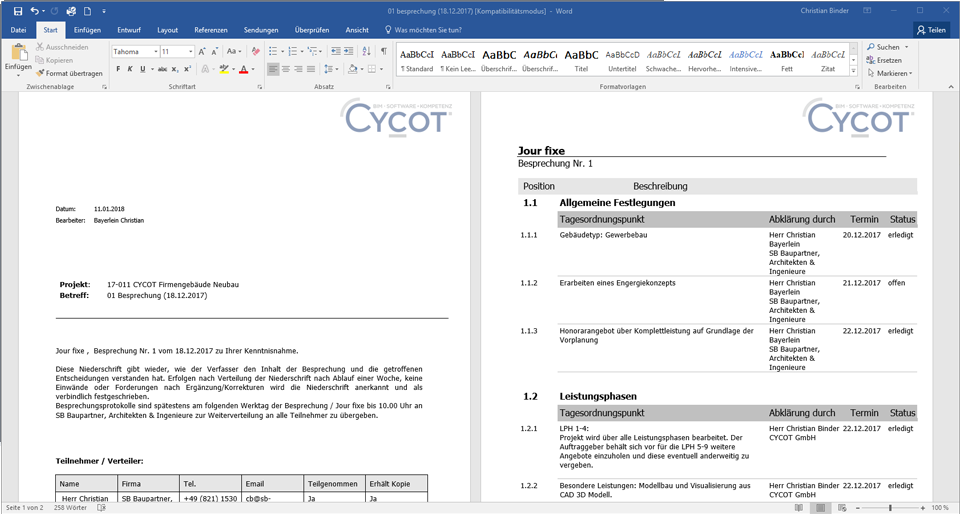 CYCOT OM Protokollmanager